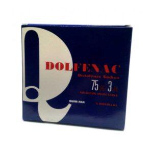 DICLOFENAC SODICO – DOLFENAC 75mg/3ml solución inyectable
